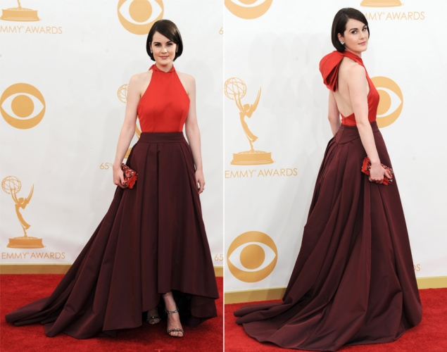 Michelle Dockery in Prada Credit: Jordan Strauss/Invision/AP