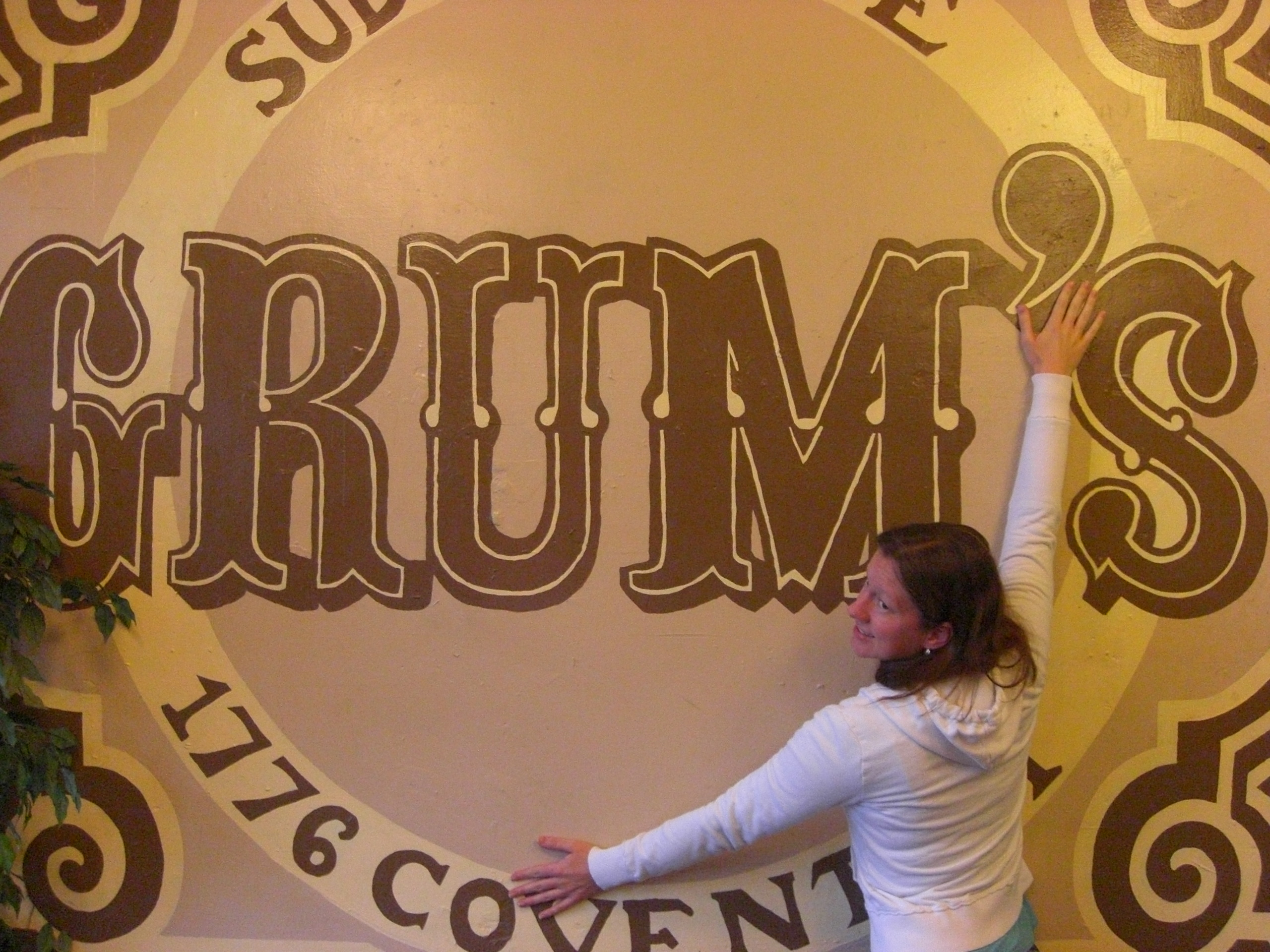 Yes, that's me. And yes, I'm hugging the Grum's wall.